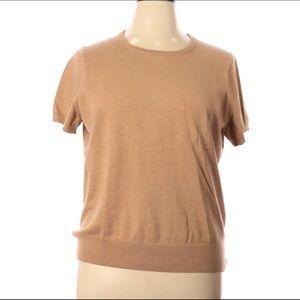 Lands End XL Short Sleeve Pullover Sweater